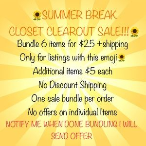🌻🌻🌻Closet clearout Sale everything must go